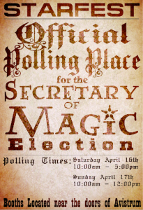 Polling Precinct Poster for Starfest